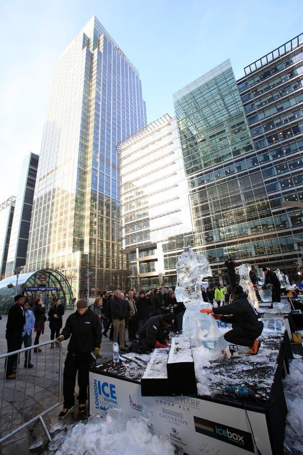 2012 festivalislondon sculpting royaltyfria bilder