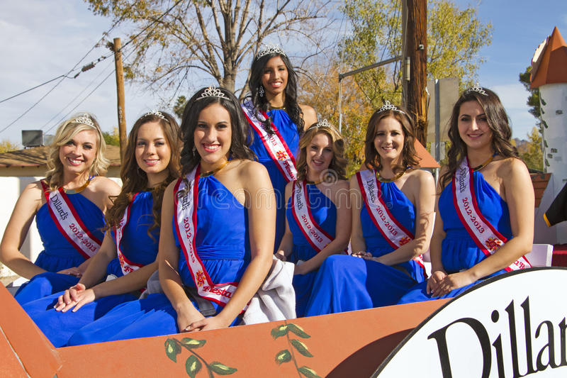 2012 Fiesta Bowl Parade Beauty Queens Editorial Photography