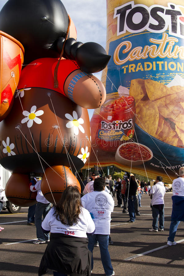 2012 Fiesta Bowl Parade Large Inflatables Editorial Stock Photo
