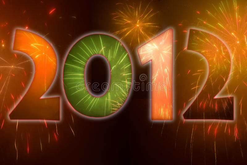 2012 fireworks royalty free stock photo