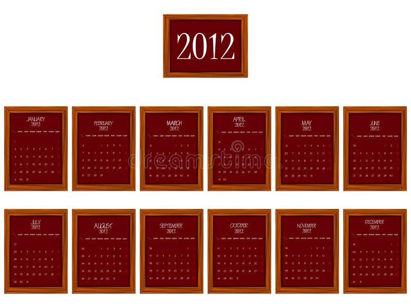 2012 Frames Calendar Stock Photos