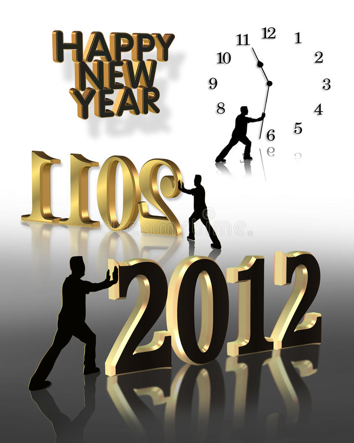 2012 grafika nowy rok royalty ilustracja
