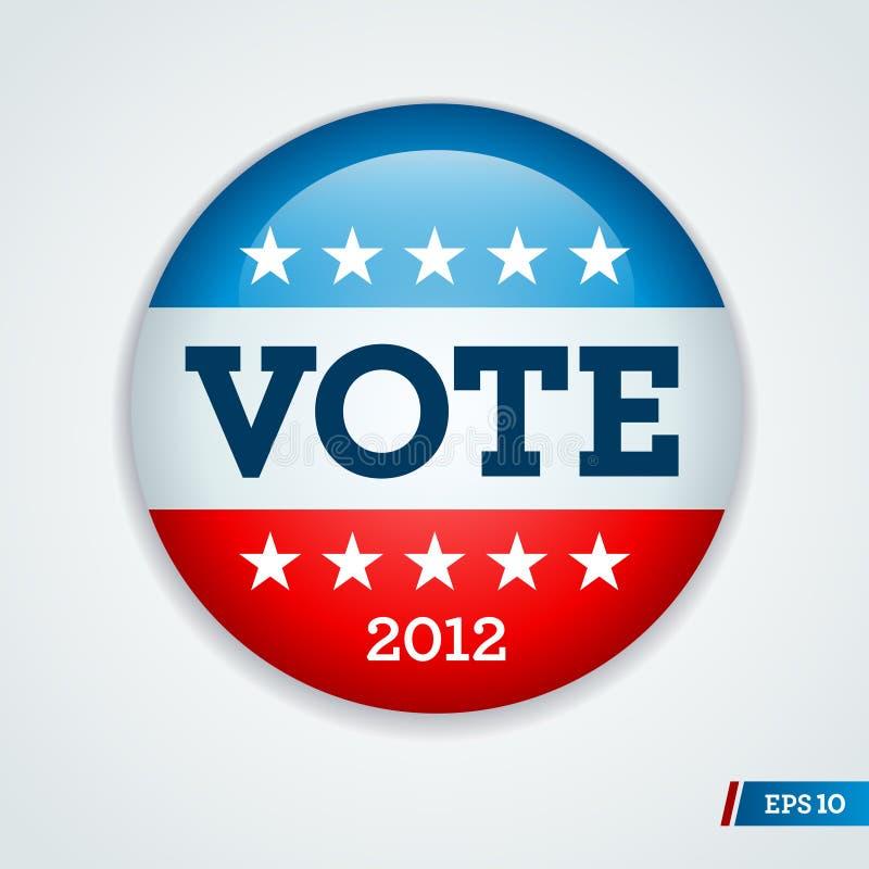 2012 guzików kampanii wybory royalty ilustracja