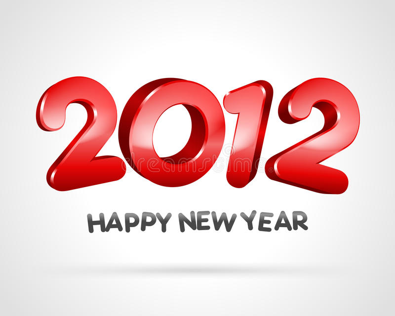 Download 2012 Happy new year stock illustration. Image of years - 21300754