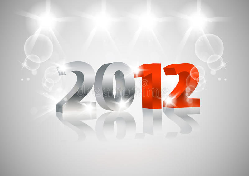 Download 2012 Happy New Year card stock vector. Image of celebrate - 22099086