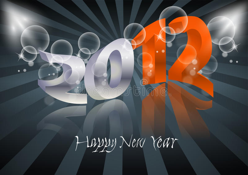 Download 2012 Happy New Year card stock vector. Image of perspective - 22099091