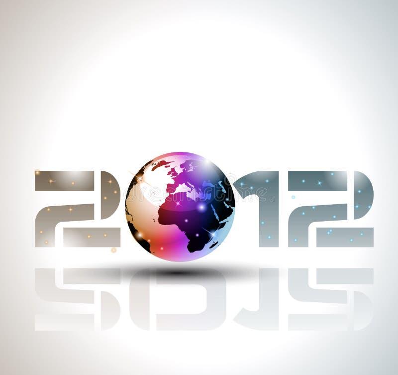 2012 Happy New Year Celebration Background Stock Photo