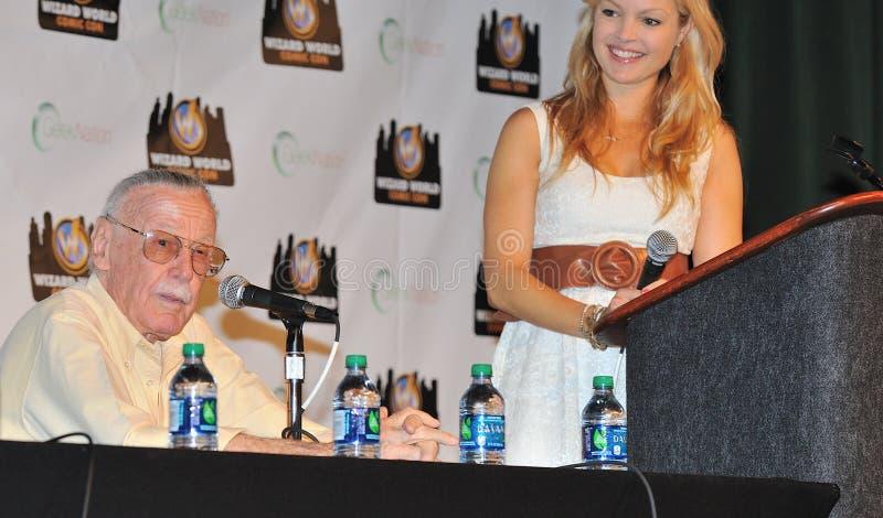 2012 imbroglioni comici - Stan Lee fotografia stock libera da diritti