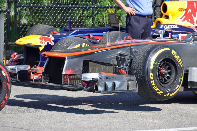 2012 kanadensiska tusen dollar för bil f1 mclaren tävlings- prix royaltyfria bilder
