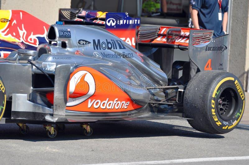2012 kanadensiska tusen dollar för bil f1 mclaren tävlings- prix royaltyfri bild