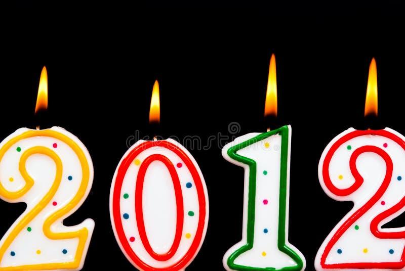 2012 Kerzen lizenzfreie stockfotos
