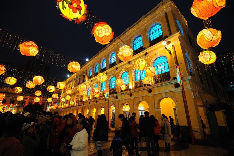 2012 kinesiska fjäderfestival i macau arkivbilder