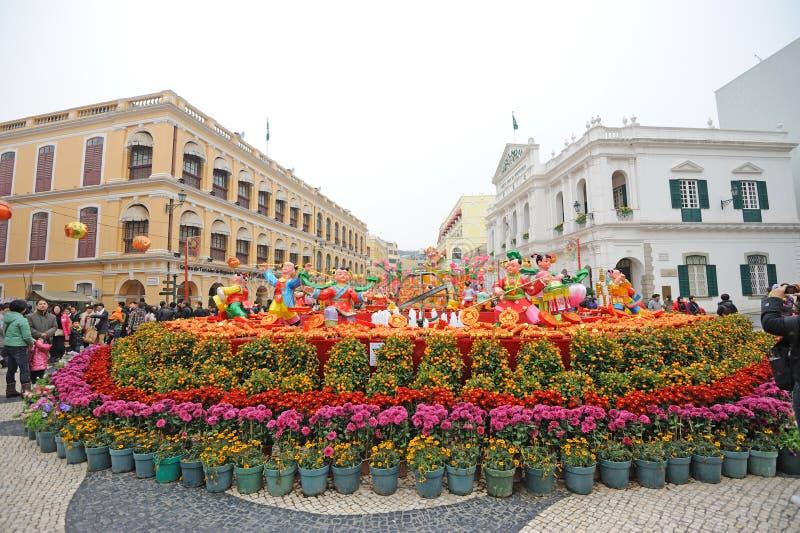 2012 kinesiska nya år i macau fotografering för bildbyråer