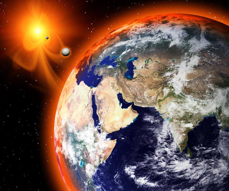 2012 l'extrémité du monde illustration de vecteur