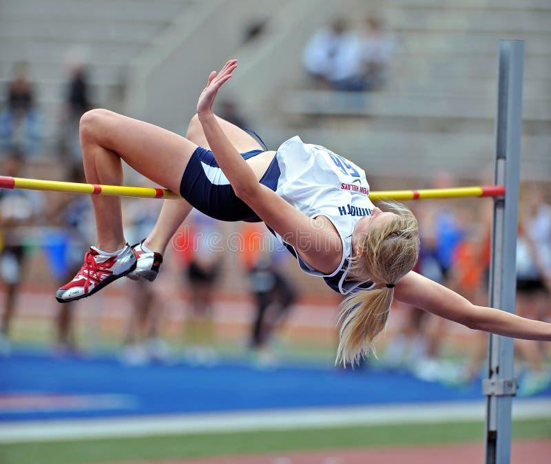 2012 Leichtathletik - Dame-Hochsprung lizenzfreies stockbild