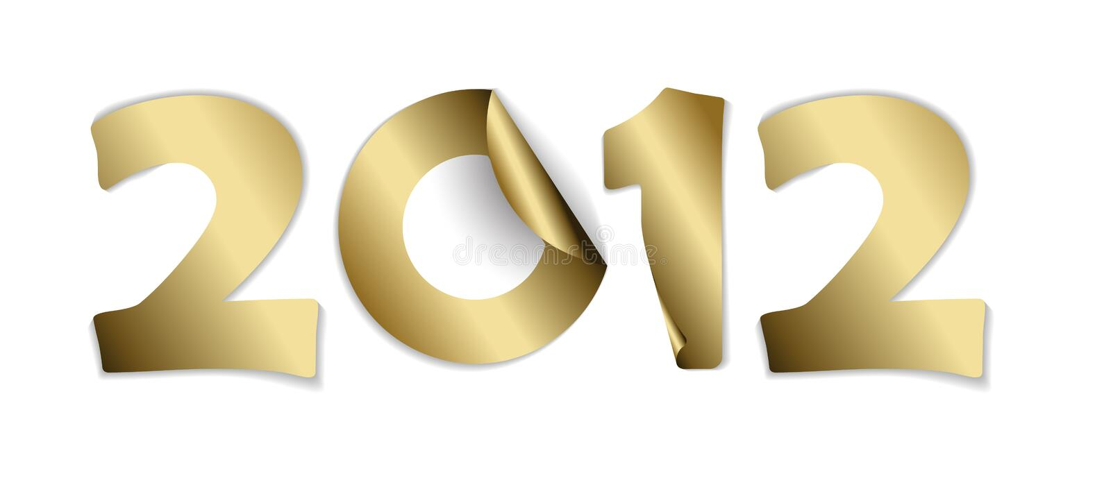 2012 made from  golden stickers
