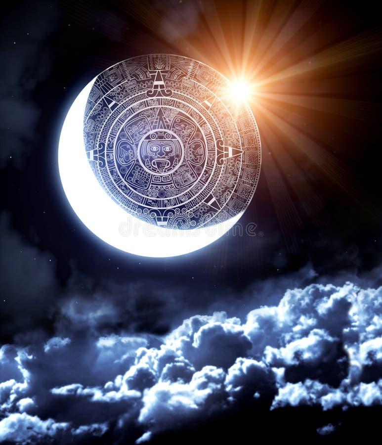 2012. Maya voorspelling royalty-vrije illustratie