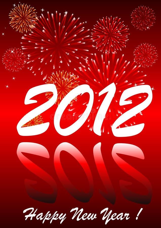 2012 met vuurwerk vector illustratie