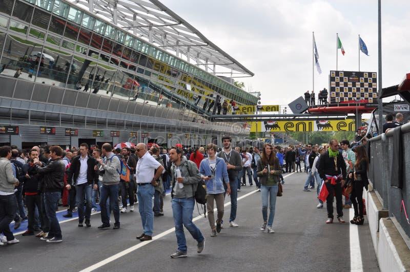 2012 Monza (Italia) - camminata del pozzo di Superbike fotografia stock libera da diritti