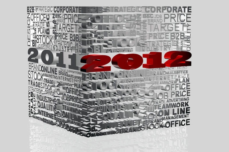 Download 2012 new year stock illustration. Image of december, season - 21010789