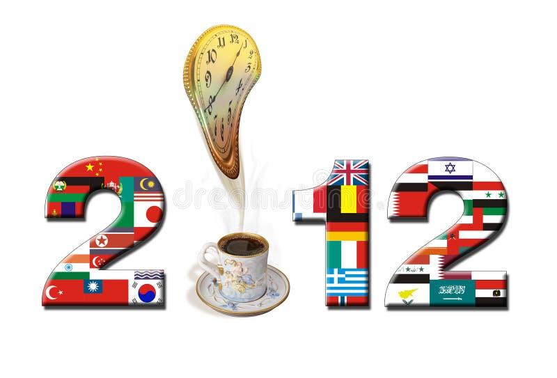 Download 2012 New Year. stock illustration. Image of mocha, july - 23026511