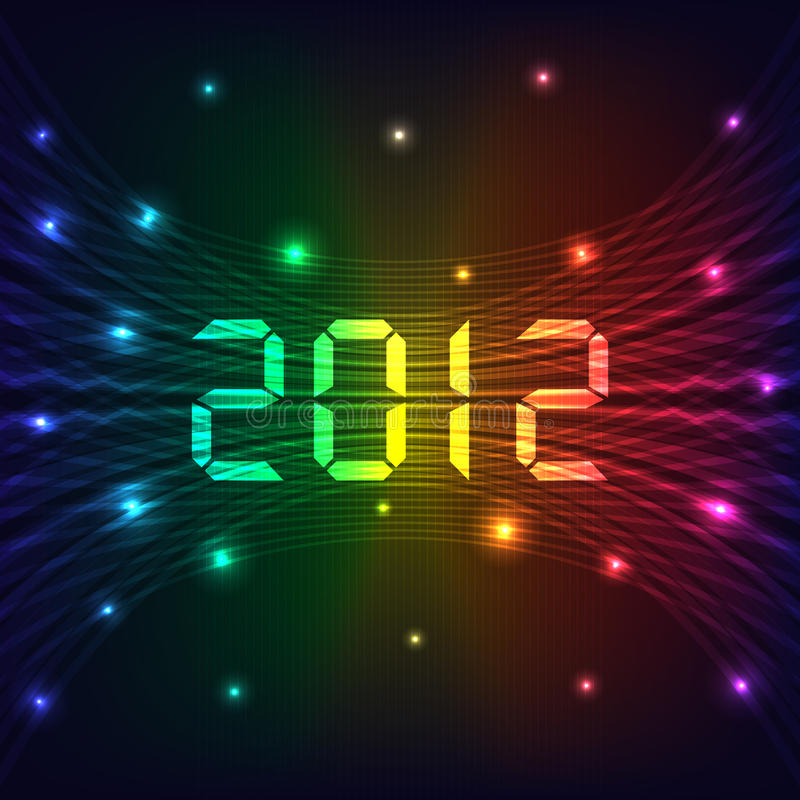 2012 New year background stock illustration