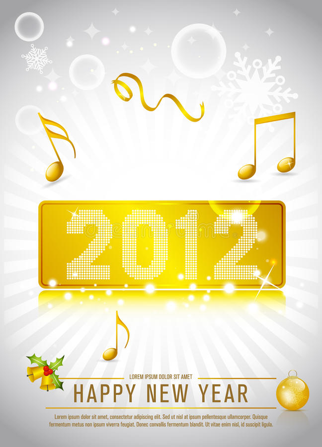 Download 2012 New Year Celebration stock vector. Image of green - 22385403