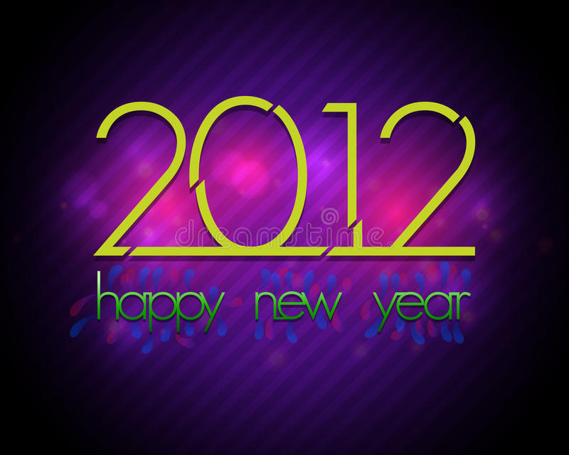2012 New Year Retro Vector Card royalty free illustration