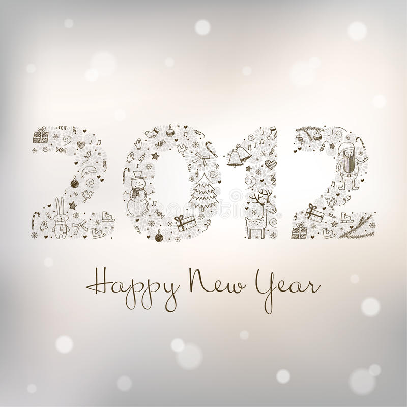 2012 New Year's greeting card royalty free stock photos