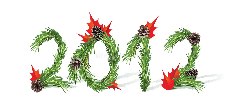 2012 nowego roku ilustracja wektor