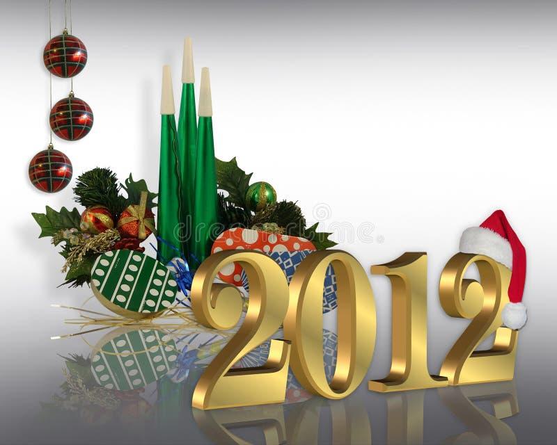2012 nowego roku royalty ilustracja