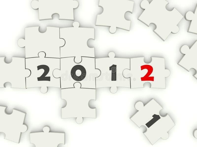 Download 2012 nowy śpiewa rok ilustracji. Obraz złożonej z biały - 22809084