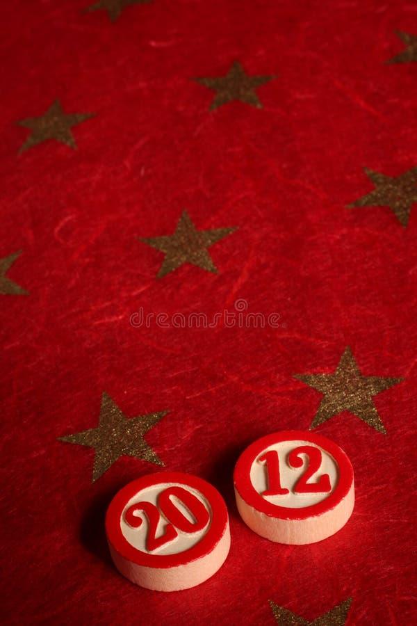 2012 - numéros de bingo-test photos stock