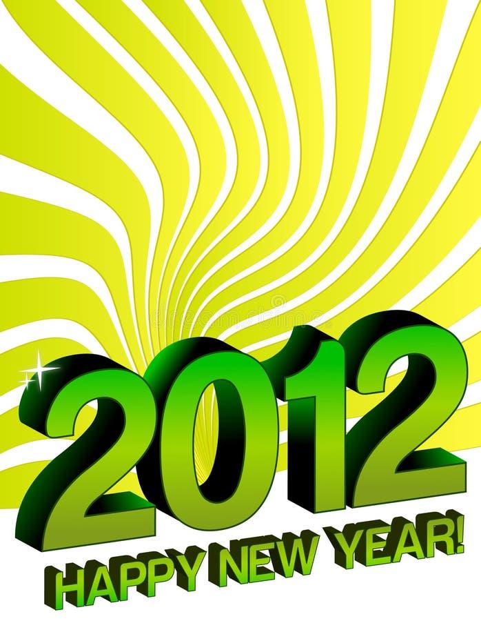 2012 nuovi anni felici royalty illustrazione gratis