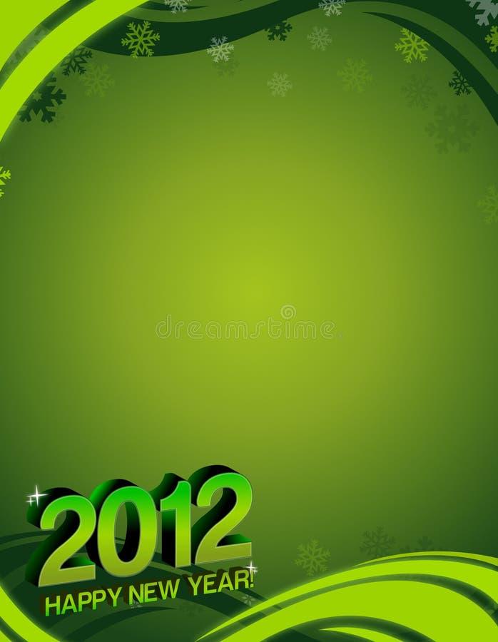 2012 nuovi anni felici di scheda royalty illustrazione gratis