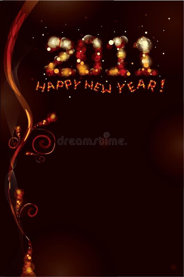 2012 - Nuovo anno felice! illustrazione vettoriale