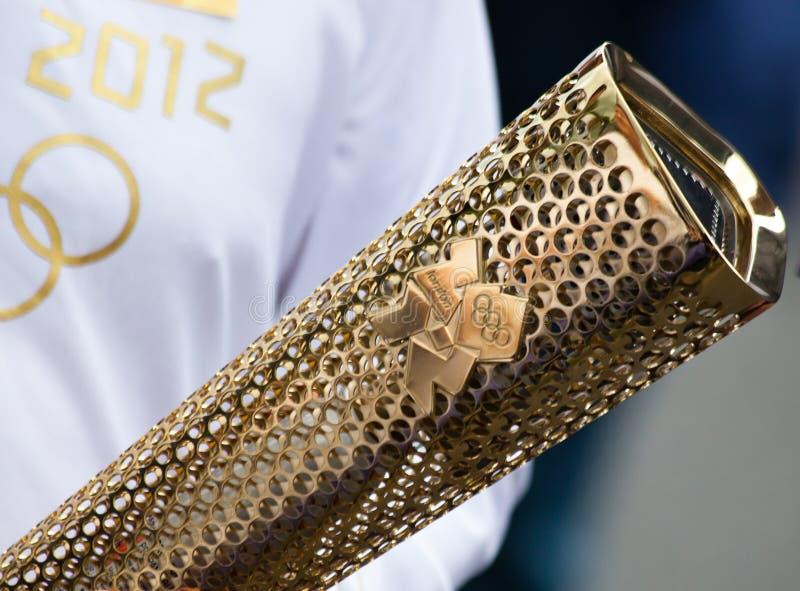 2012 olimpijska London pochodnia fotografia royalty free