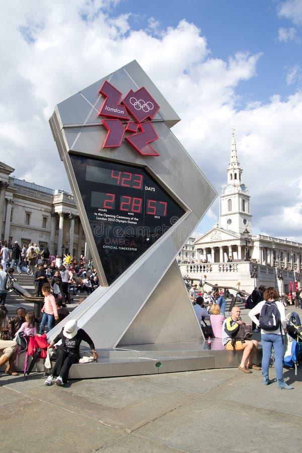 2012 olimpijski zegarowy odliczanie fotografia stock