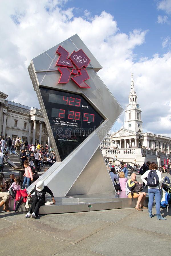 Download 2012 Olympic Countdown Clock Editorial Photography - Image: 19763802
