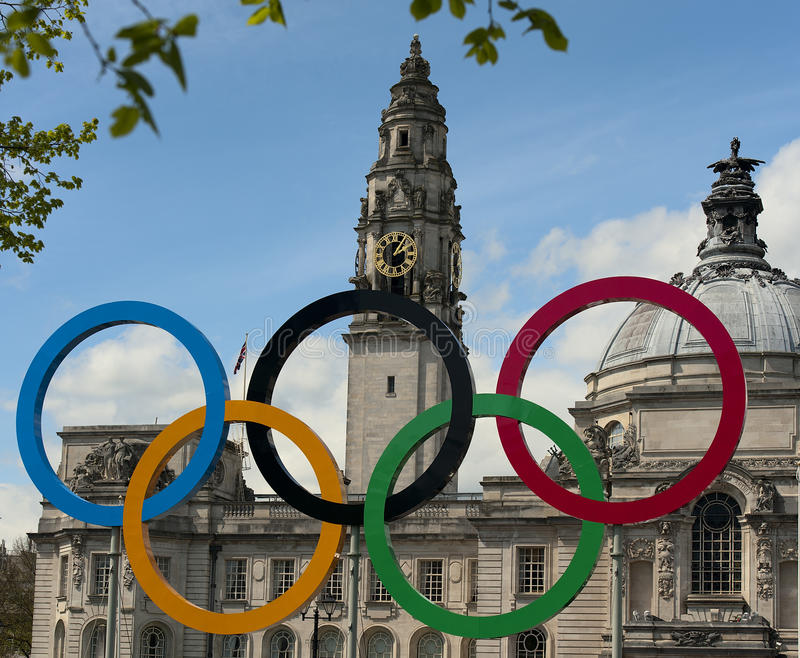 Download The 2012 olympic rings editorial stock image. Image of architecture - 24663384