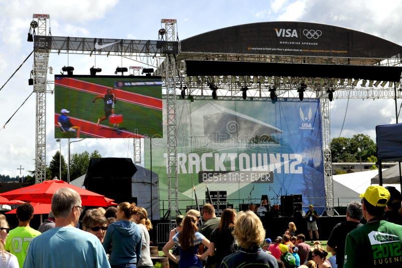 2012 olympische Versuche stockfotografie