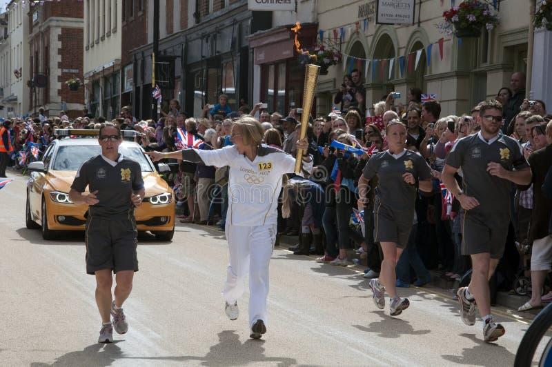 2012 Olympische Vlam - het Relais van de Toorts royalty-vrije stock fotografie