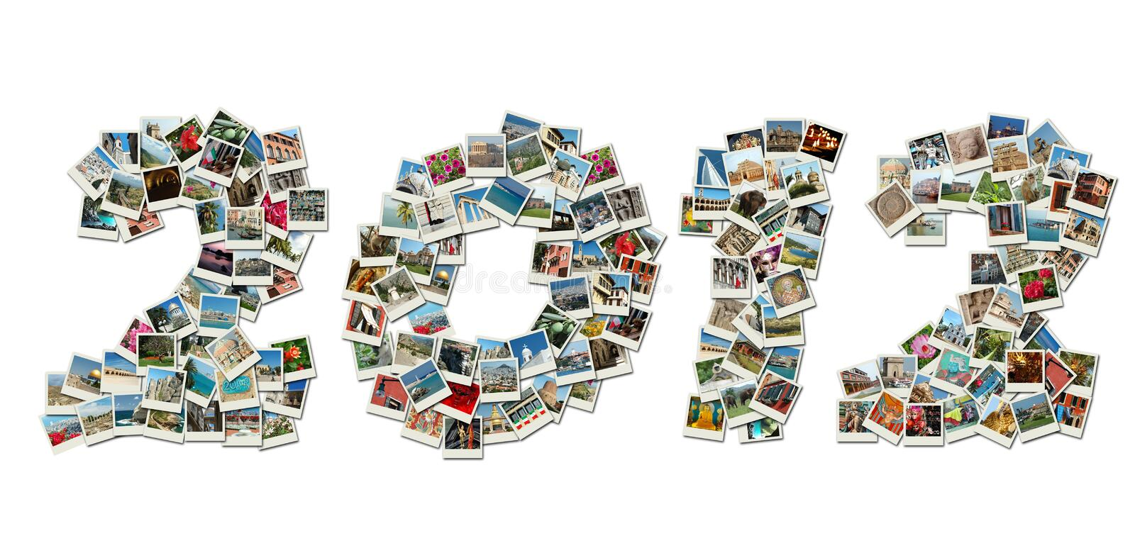 Download 2012 PF Card Collage Made Of Travel Photos Stock Illustration - Image: 22533207