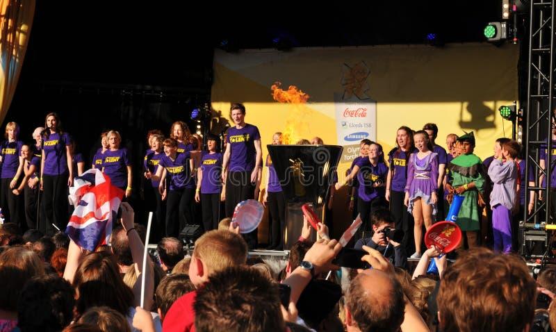 2012 Pochodnia Koncertowa Olimpijska Sztafetowa London Obraz Stock Editorial