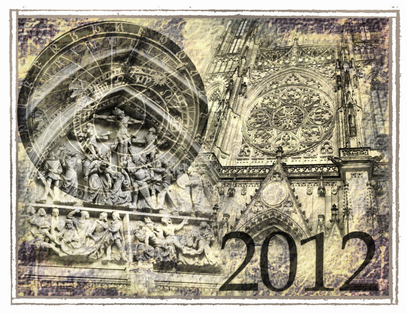 2012 predice illustrazione di stock