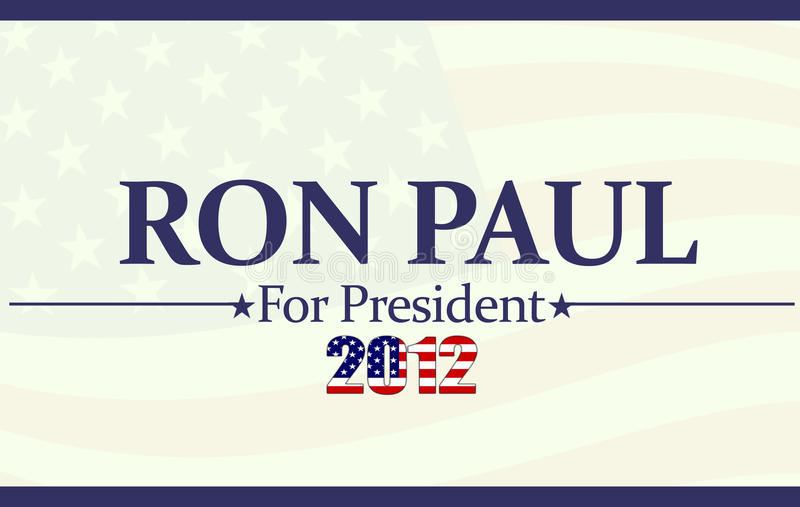 Download 2012 Ron Paul editorial image. Illustration of convention - 20166310