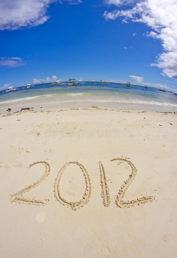Download 2012 on sandy beach stock image. Image of ocean, thousand - 21856931