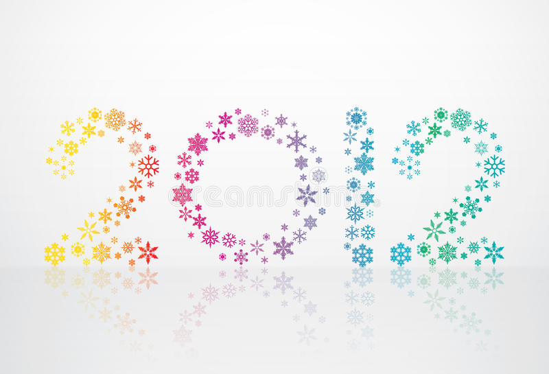 2012 snowflakes καρτών ελεύθερη απεικόνιση δικαιώματος
