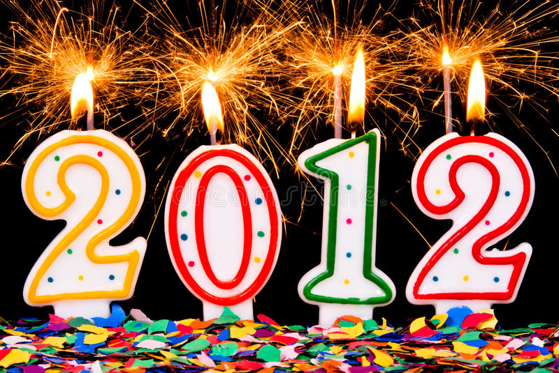 Download 2012 Sparklers And Confetti Stock Image - Image: 20418595