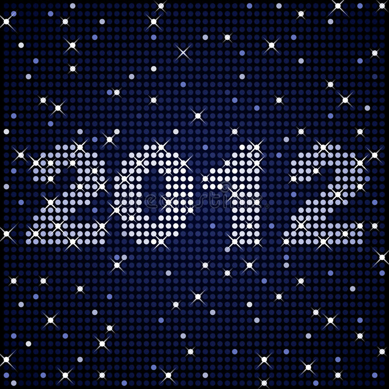 2012 in sparkles. New Years or graduation sign for 2012 in glittering lights royalty free illustration